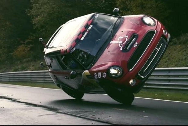 Cars: MINI Cooper sets Nurburgring lap record, on two wheels
