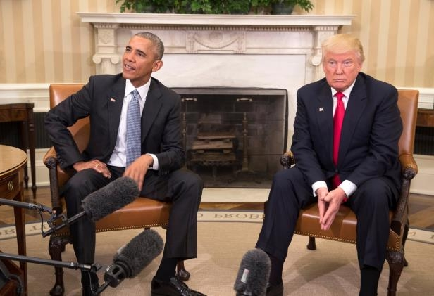 President-elect Donald J. Trump and President Obama meeting in the Oval Office after the election. Mr. Obama that day pledged a smooth transition.