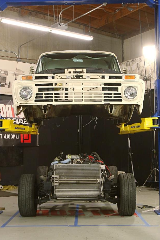 Enthusiasts: How to Swap a Cop Car Frame Under an F-100