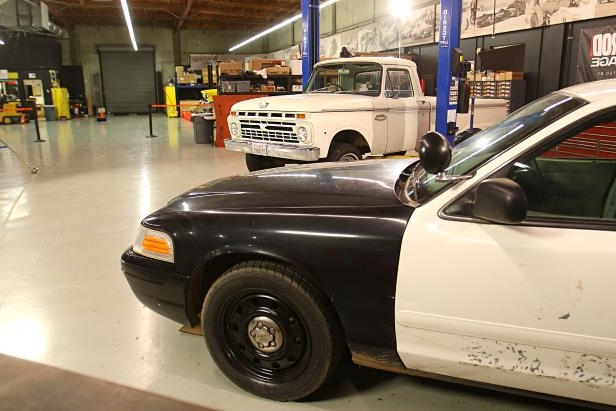 Enthusiasts: How to Swap a Cop Car Frame Under an F-100 Pickup