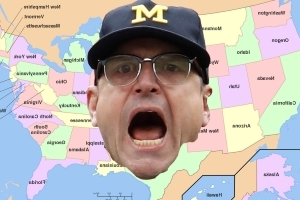 Jim Harbaugh's favorite recruiting territory? The entire U.S.A., baby