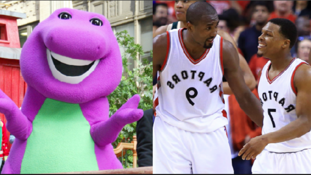 Sport: Bucks played the 'Barney' theme song to introduce the