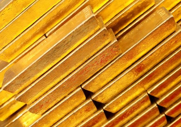 FILE PHOTO: Gold bars are seen at the Czech National Bank in Prague