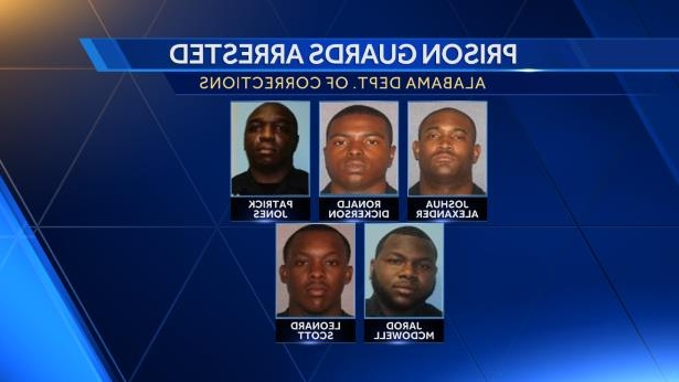 Crime: 5 Alabama prison guards accused of taking bribes from