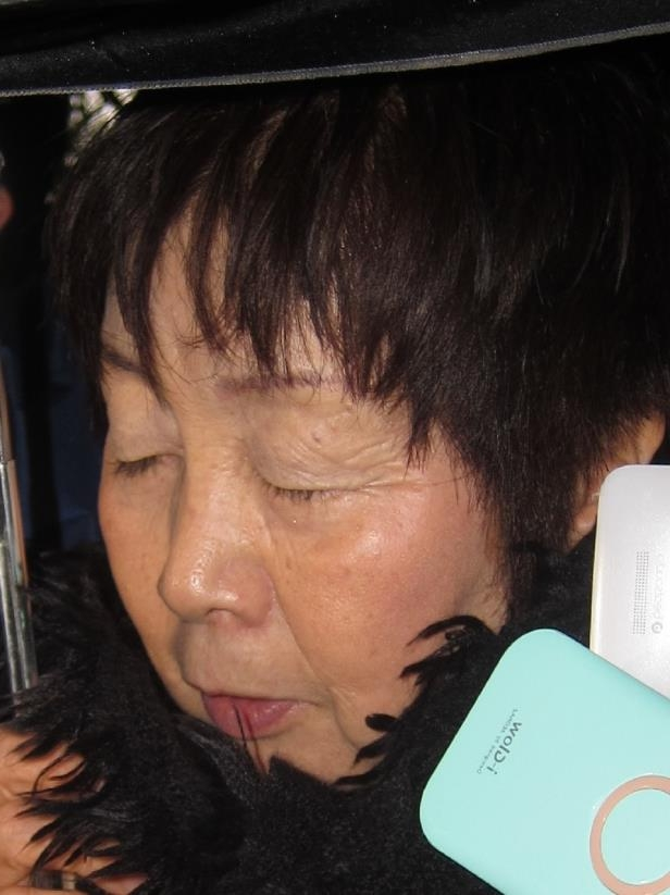 Japanese woman Chisako Kakehi, who was arrested in Kyoto on November 19, 2014 on suspicion of poisoning her husband with cyanide in the latest