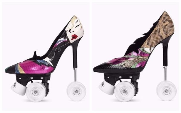 1a0a680ade0 Offbeat: Saint Laurent Sells Heels With Wheels For People Who Want ...