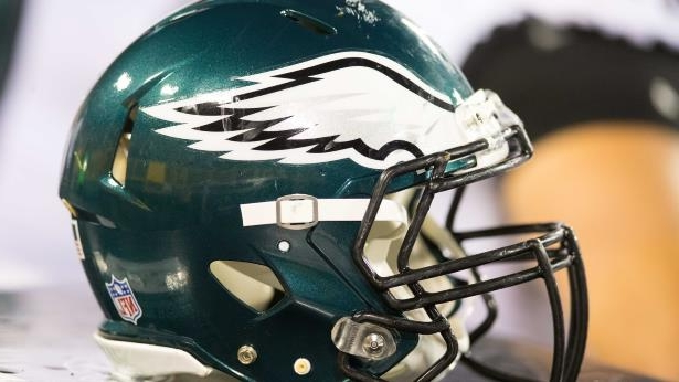 Aug 10, 2017; Green Bay, WI, USA; A Philadelphia Eagles helmet during the game against the Green Bay Packers at Lambeau Field.