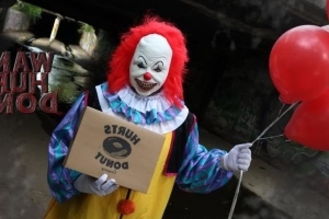 You Can Hire A Scary Clown To Deliver Doughnuts To Your Friends