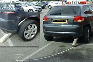 Audi A3 Abandoned in Parking Lot After Handbrake Turn Gone Bad