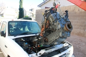Putting in a remanufactured engine and transmission in an '01 Ford Ranger
