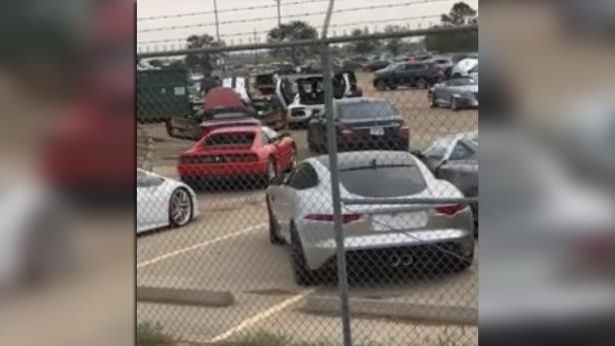 Video Shows Millions of Dollars in Exotic Cars Flooded by Harvey in Houston