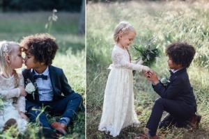 A Pair of Photographer Moms Created a Mock Wedding Photo Shoot With Their Children