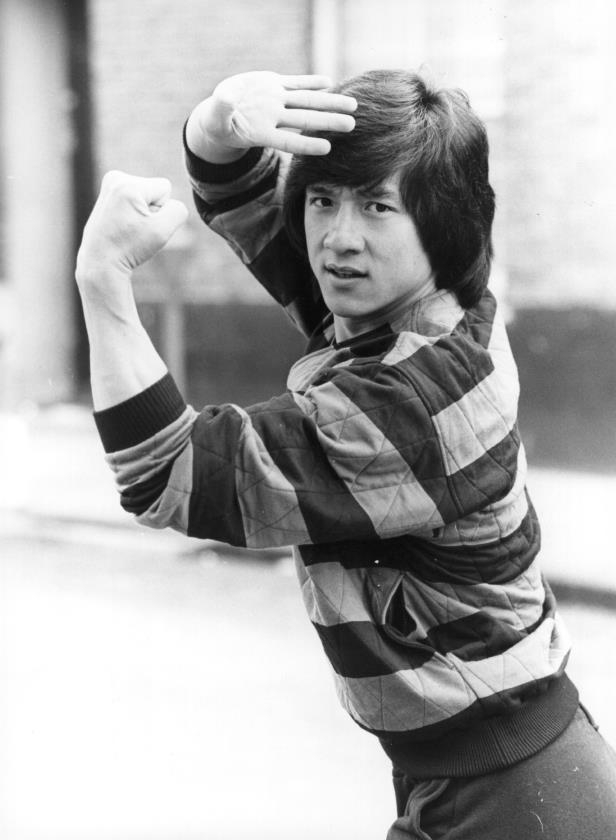 Slide 11 of 28: 15th October 1980: Jackie Chan, martial arts expert, in Britain to publicise his latest film the 'Big Brawl'. (Photo by Central Press/Getty Images)