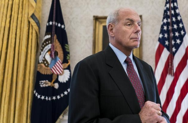 White House Chief of Staff John F. Kelly in the Oval Office on Tuesday.
