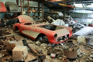 1957 Corvette Really Found in a Barn!