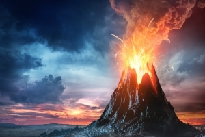 What Would Happen If a Hurricane Hit an Erupting Volcano?