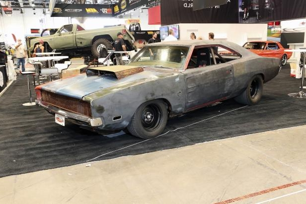 Slide 13 of 75: 013-1968-dodge-charger-front-right-2017-sema.jpg