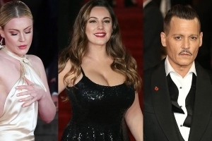 Johnny Depp aminci, Kelly Brook ultra sexy... à l'avant-première du Crime de l'Orient-Express (PHOTOS)