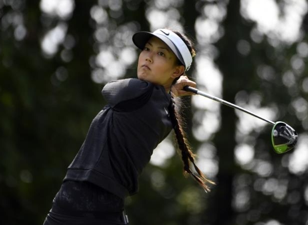 Michelle Wie holding a golf club: FILE PHOTO - LPGA: Canadian Pacific Women's Open - Second Round