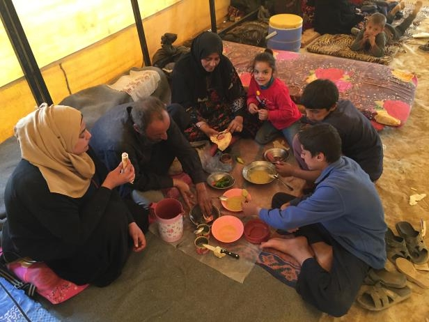 The Shaban family was among the last to flee the Syrian City of Raqqah after the battle that drove Islamic State from its self-styled capital. They shared a meal at a displacement camp in Ayn Issa, Syria.