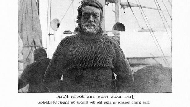 This photo of Sir Ernest Shackleton will also be sold