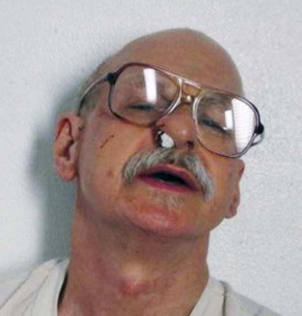 FILE - This undated file photo provided by the Arkansas Department of Correction shows convicted murderer Jack Greene. Greene is scheduled for execution Thursday, Nov. 9, 2017. His lawyers asked the Arkansas Supreme Court for a stay of execution on Monday, Nov. 6, 2017, saying he will not understand why he is being executed because he suffers from delusions. (Arkansas Department of Correction via AP File)