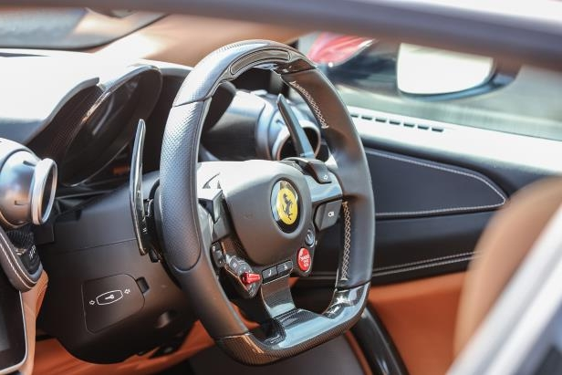 Slide 23 of 33: 2018-Ferrari-GTC4Lusso-T-steering-wheel.jpg
