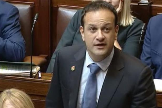 Leo Varadkar wearing a suit and tie