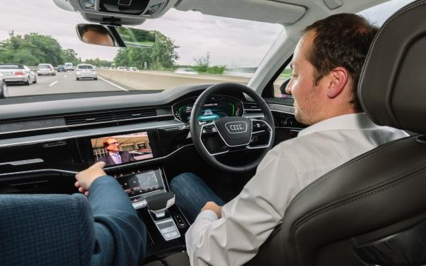 Slide 8 of 11: Audi's semi-autonomous A8