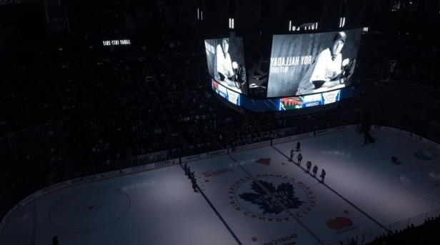 Toronto Maples Leafs Have Moment of Silence for Roy Halladay