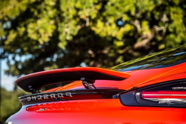 Slide 12 of 29: 2017-Porsche-718-Cayman-rear-spoiler.jpg