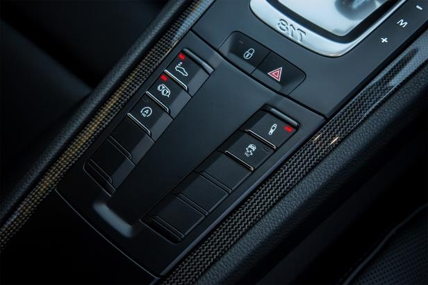 Slide 29 of 29: 2017-Porsche-718-Cayman-center-console-control-panel.jpg
