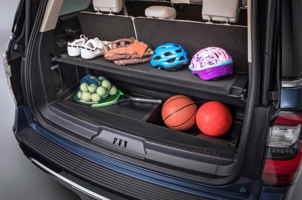 Slide 6 of 61: 2018-Ford-Expedition-storage-space.jpg