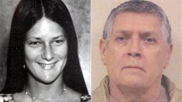 a man and woman posing for a photo: Cold case detectives have arrested convicted rapist Leon Seymour, 71, for the murder of 19-year-old Denise Lampe in San Mateo County in 1976.