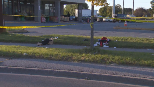 Man, teen charged in stabbing that injured 3 near Scarborough school in October: Clothing is left scattered on the ground after a stabbing injured three teens in Scarborough on Friday.&nbsp;<br />