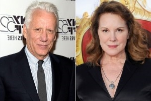 Elizabeth Perkins, James Woods posing for the camera: Elizabeth Perkins and James Woods