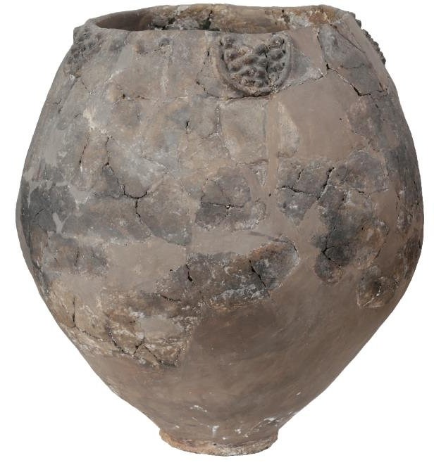 Pottery fragments from 8,000-year-old jars like this one -- which were unearthed near the Georgian capital, Tbilisi -- are the earliest evidence of wine-making in the Near East, bringing the tradition back almost 1,000 years earlier than thought, researchers say