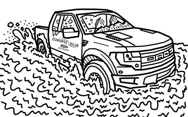 News Ford Raptor Stars In Its Own Colouring Book Pressfrom Canada