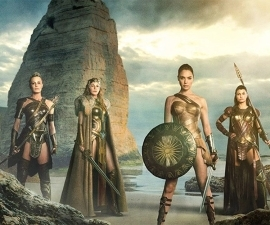 Wonder Woman fans aren't happy that the Amazonian warriors appear to have skimpier, less protective costumes in Justice League.: Wonder Woman Amazonian women