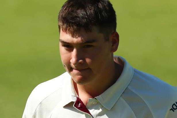 Matthew Renshaw of Queensland leaves the field after being dismissed.