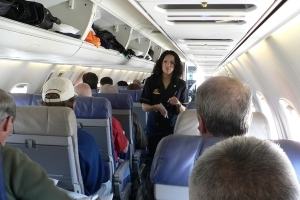 Flight Attendant Falls Out of Airliner