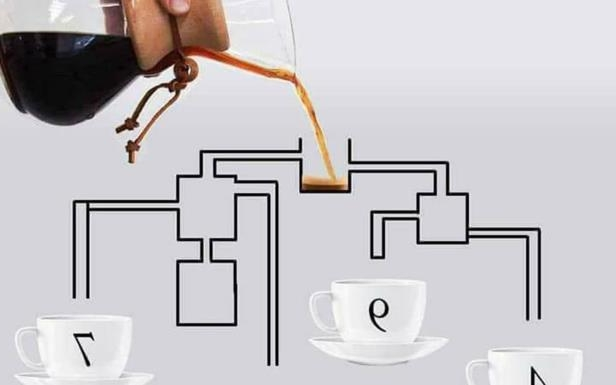 This Coffee Pouring Puzzle Has Baffled the Internet. Can You Solve It?