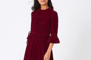 This red velvet dress from M&S is selling out fast – and it's perfect for the party season