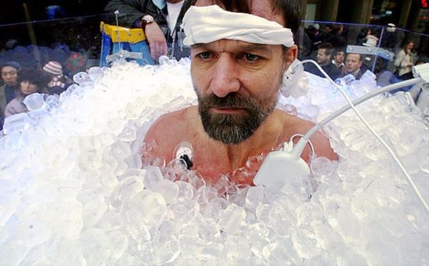Wim Hof: <p>Wim Hof</p><p>Known as the 'The Iceman', Wim is able to run without any clothes on during winter for over five hours. This man can also withstand almost polar-like temperatures. According to him, all this can be achieved through the power of the mind.</p>