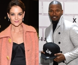 Hollywood's most secretive couple are finally loosening up! That's right, Katie Holmes and Jamie Foxx just made an appearance together in New York.: Not hiding anymore! Katie Holmes attends Jamie Foxx's event