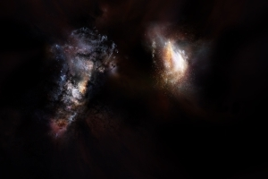 Massive Galaxy Pair Stretches Cosmic Evolution Theories