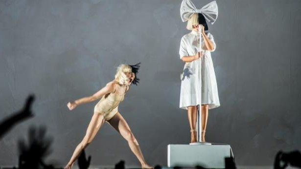 Sia and Maddie Ziegler on her Nostalgic For The Present tour, which played Melbourne and Sydney on November 30 and December 2.