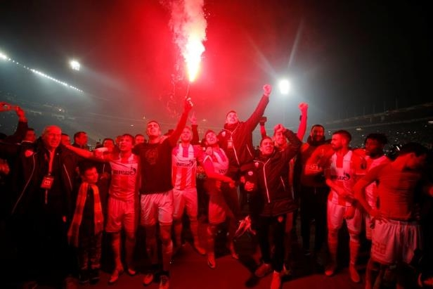 a group of people on a stage: Europa League - Red Star Belgrade vs FC Cologne