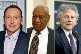 Roman Polanski, Bill Cosby, Kevin Spacey are posing for a picture: academy oscar polanski cosby spacey
