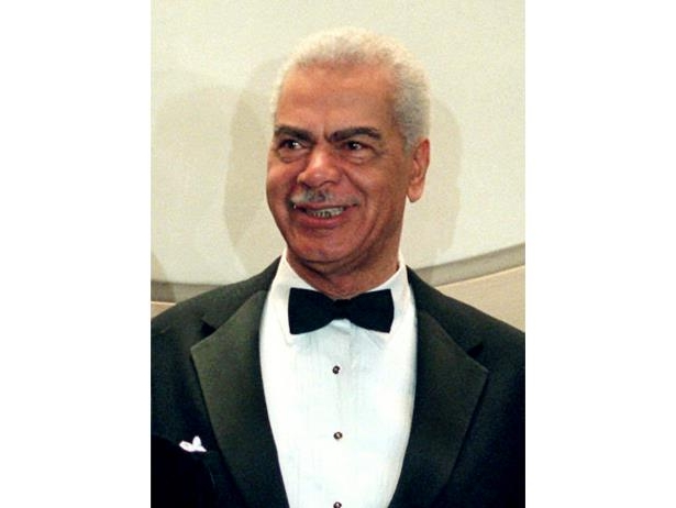 Slide 13 of 181: In this Feb. 3, 1997, file photo, Earle Hyman poses before an induction to the Theater Hall of Fame at the Gershwin Theatre in New York.